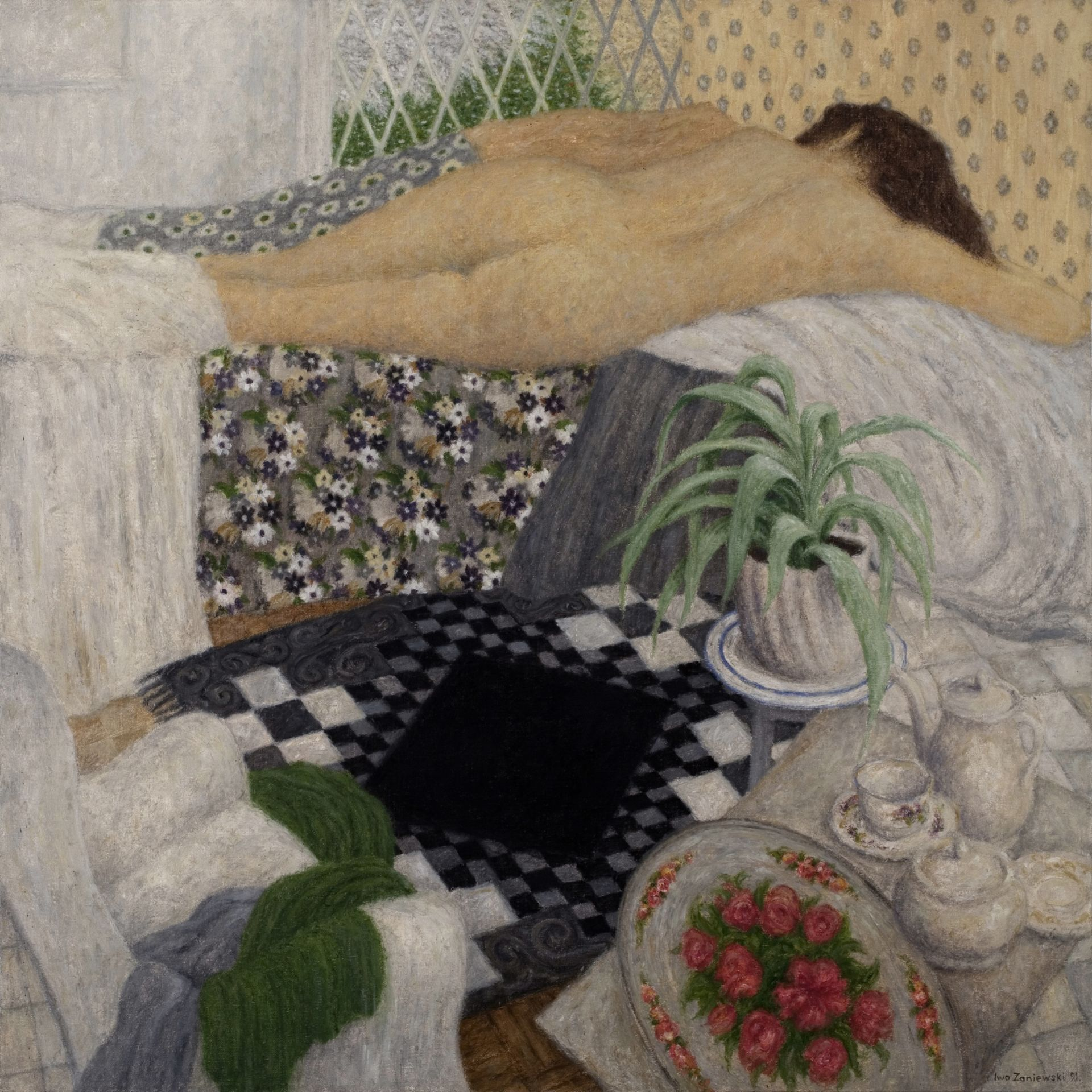 Nude and Carpet with a Black Rhombus  Iwo Zaniewski