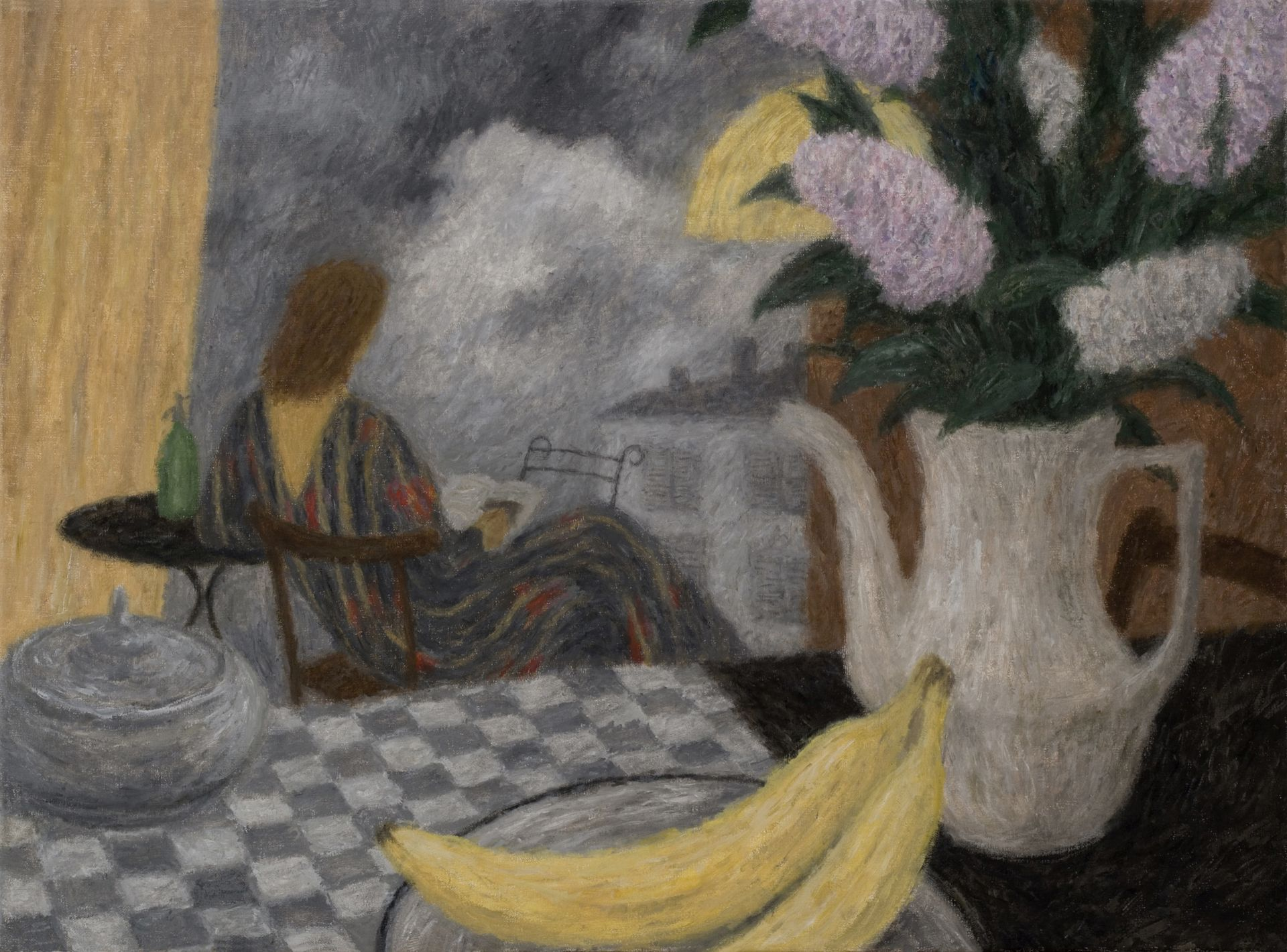 Bananas, Lilacs and Reading Woman  Iwo Zaniewski